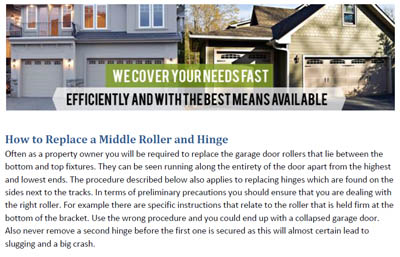How to Replace a Roller and Hinge - Garage Door Repair Rosenberg