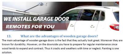 FAQs - Garage Door Repair Rosenberg